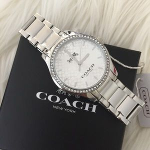 New Coach Maddy Silver Stainless Steel Women's ⌚️